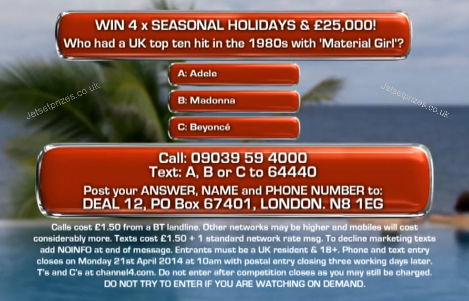 Channel 4 competitions hot uk deals